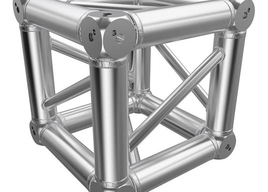 Global Truss F34 – Box Corner – Silver (used)