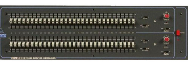 Apex GX-230 2×30 Band Graphic Equalizer (used)